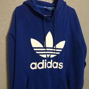 Adidas 2XL Blue Logo Hoodie